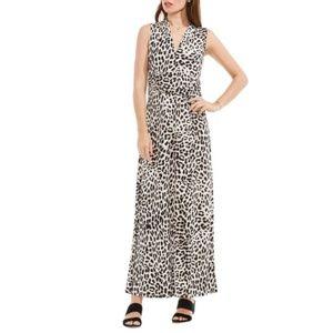 NWT Vince Camuto Leopard Print Maxi Dress 1X